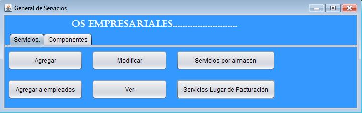 Nueva ventana general de servicios